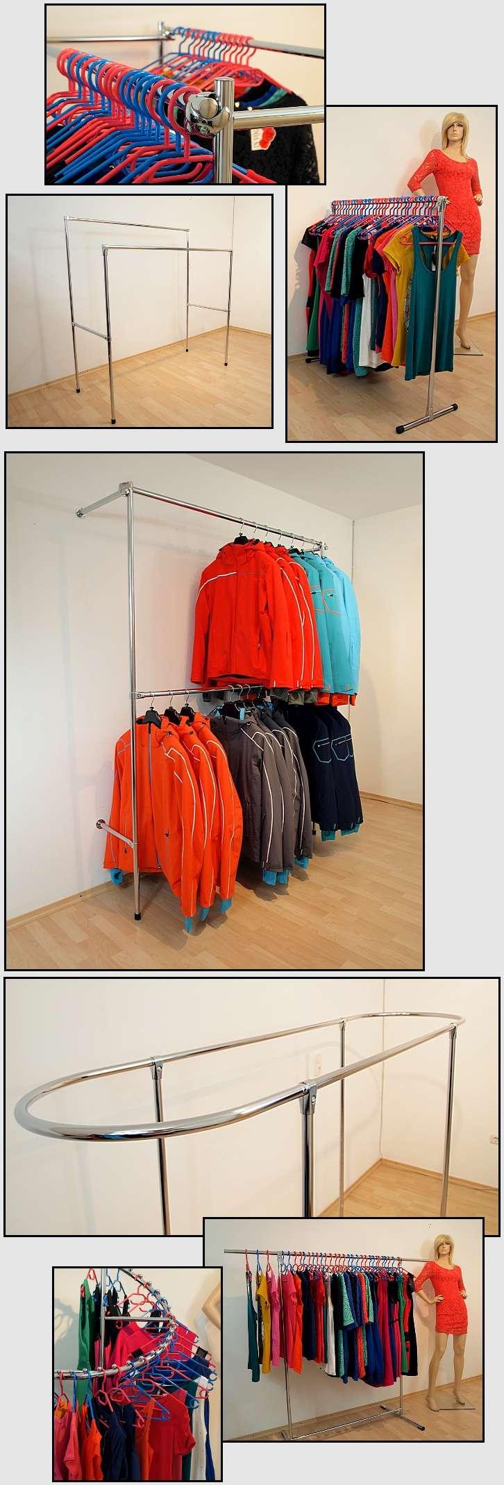 400x240x40 profi kleiderst nder wandst nder garderoben system kleiderstange ebay. Black Bedroom Furniture Sets. Home Design Ideas