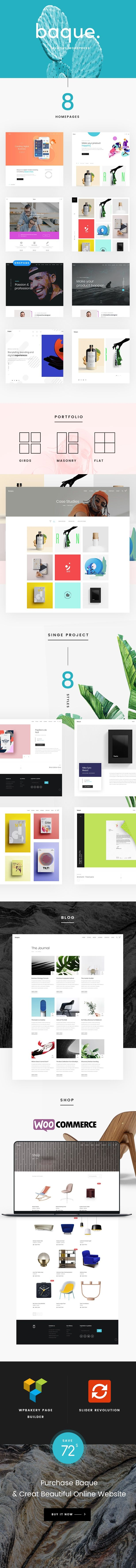 Baque - Multipurpose Onepage Creative WP Theme - 1