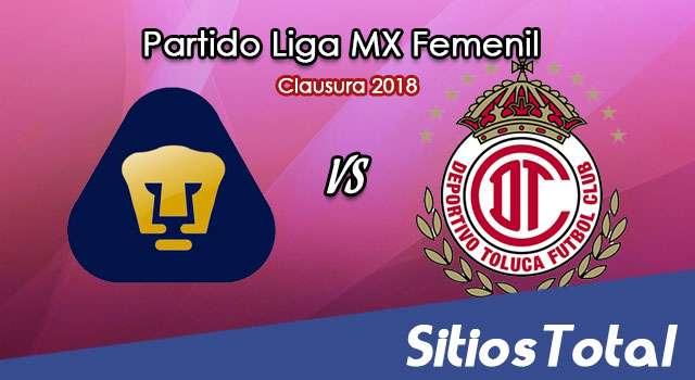 Pumas vs Toluca en Vivo – Liga MX Femenil – Sábado 3 de Febrero del 2018