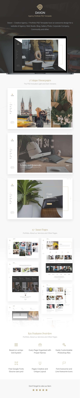 Daxon - Agency / Portfolio PSD Template - 1