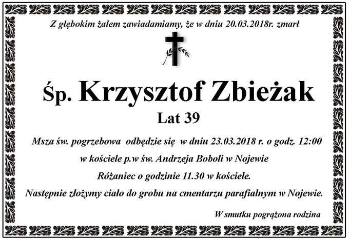 Żyli wśród nas – Krzysztof Zbieżak