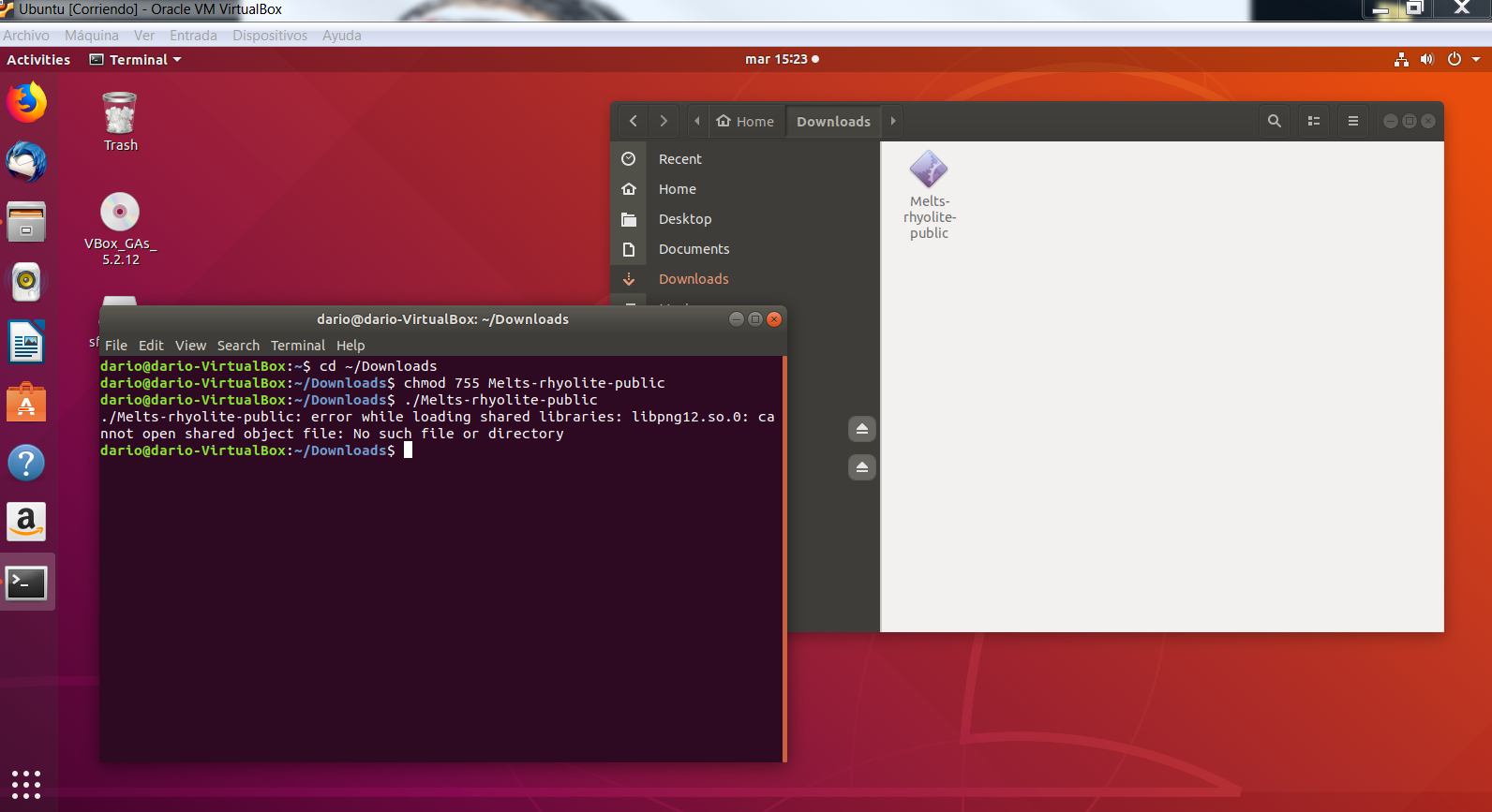 How to install rhyolite-MELTS on Linux