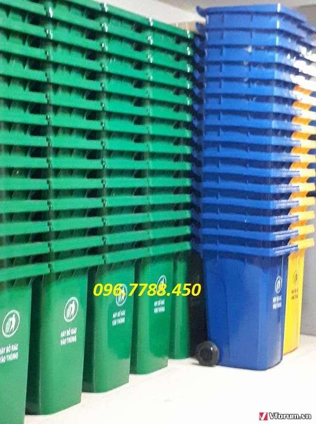 www.123nhanh.com: Thùng rác nhựa 120 lít, thùng rác nhựa giá rẻ call 096.7