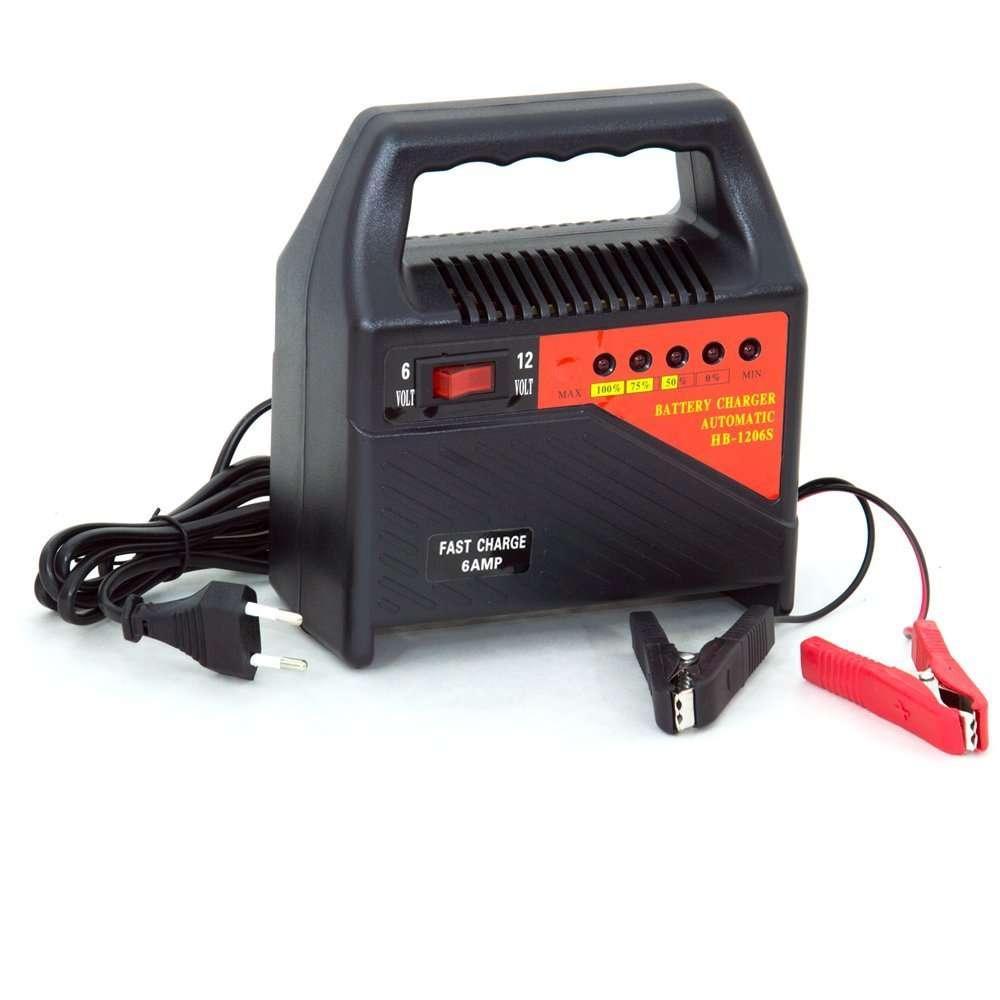 Caricabatteria portatile 6v 12v auto moto ampere batteria for Caricabatterie auto moto lidl