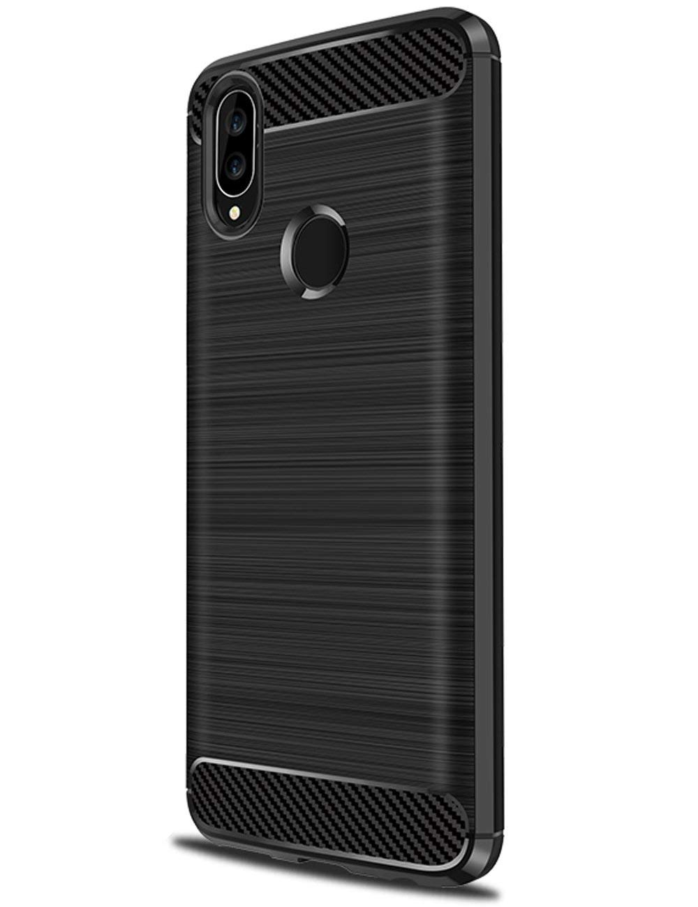 Coque-Etui-Housse-Silicone-brossee-Fibre-de-carbone-Noir-Protection-Huawei miniature 8