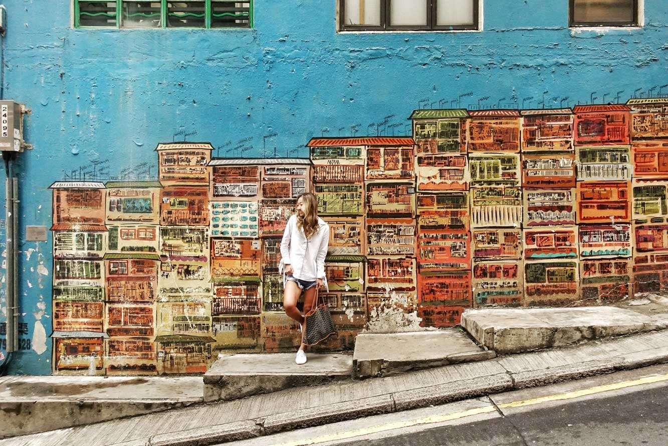 Central Hong Kong Street Art, Graham Street