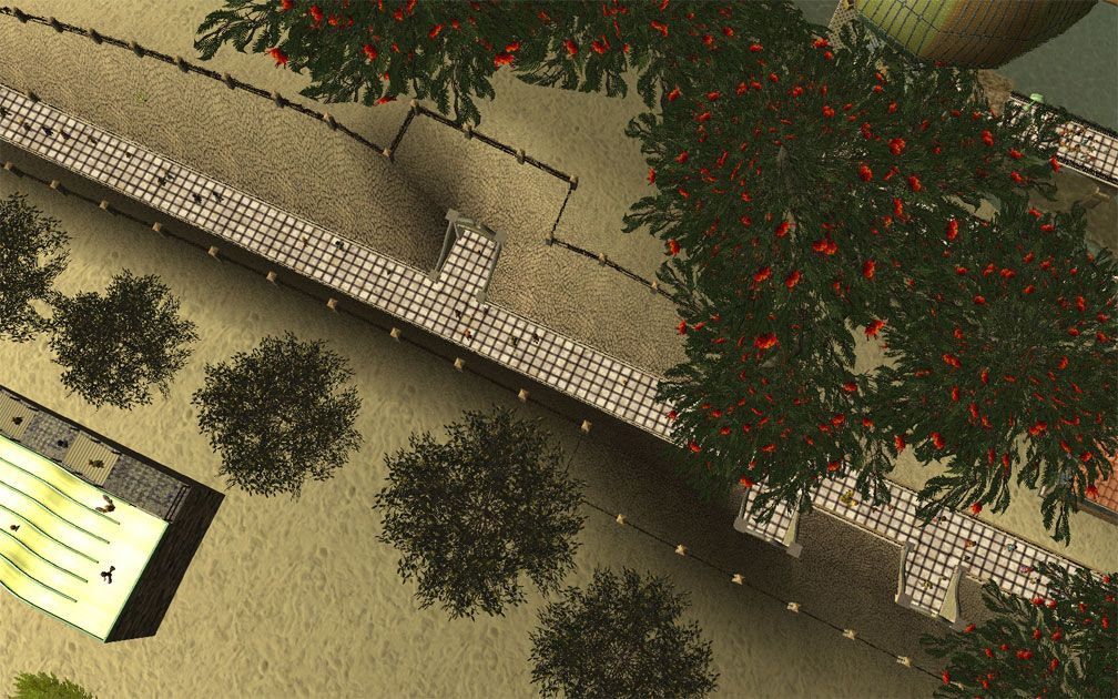 My Projects - CSO's I Have Imported, Walls, Tunnels, and Fences - Aerial View of The Cut Displaying Tunnel Entrances Leading Off Main Path System, Image 07