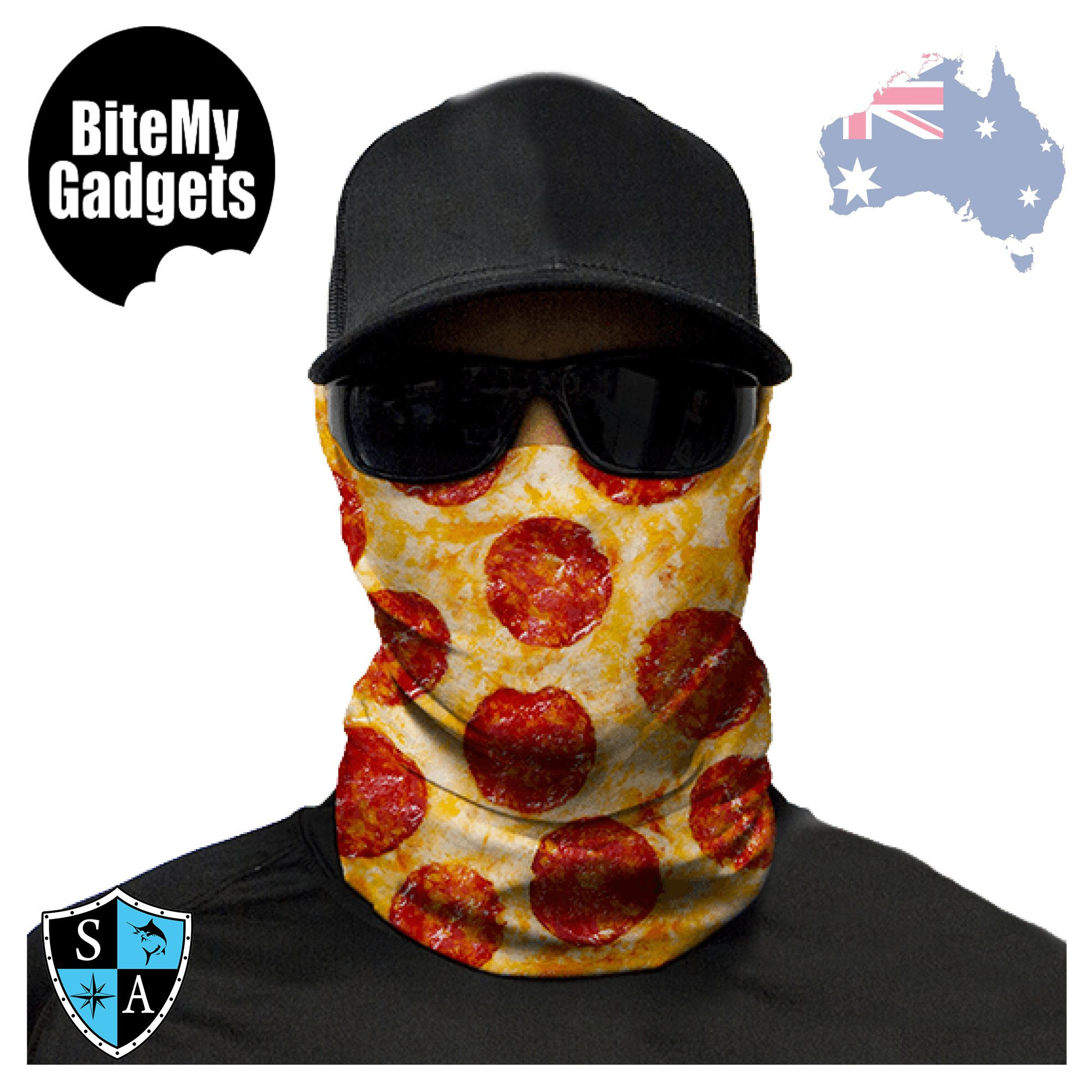 Details about SA Co - Face Shield - PIZZA - Bandana Durag Neck Scarf  Headwear UV Mask Sock 97ad5431743