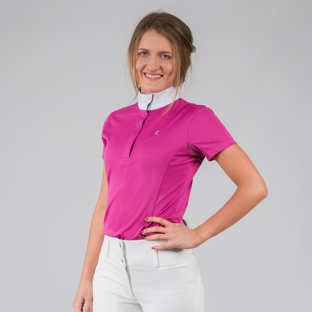 Horze-Blaire-Women-039-s-Short-Sleeve-Functional-Show-Shirt-with-UV-Protection thumbnail 7