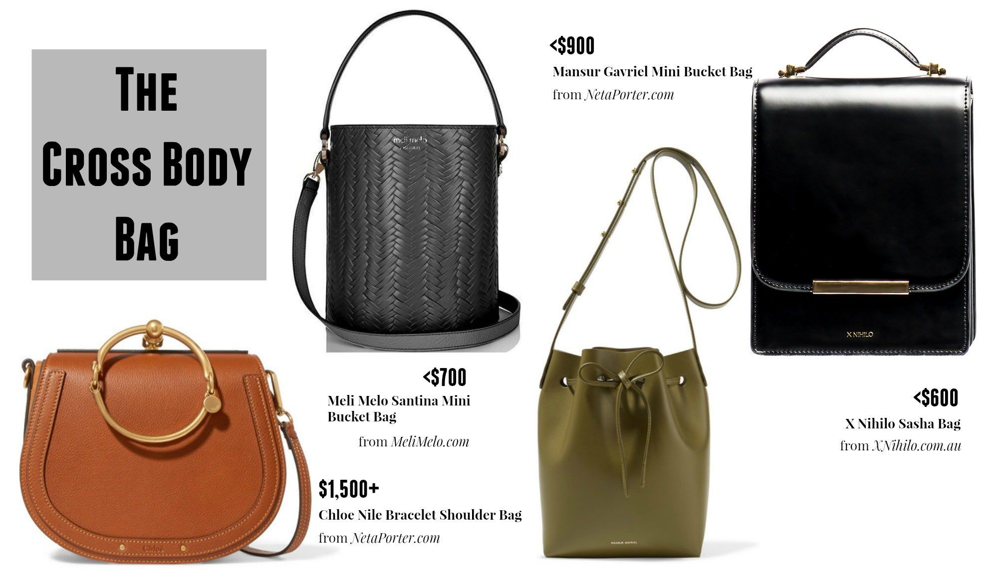 The Cross Body Bag Essentials