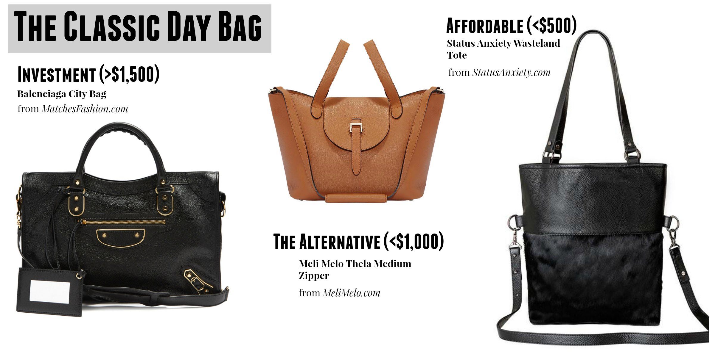 The Essential Classic Day Bags