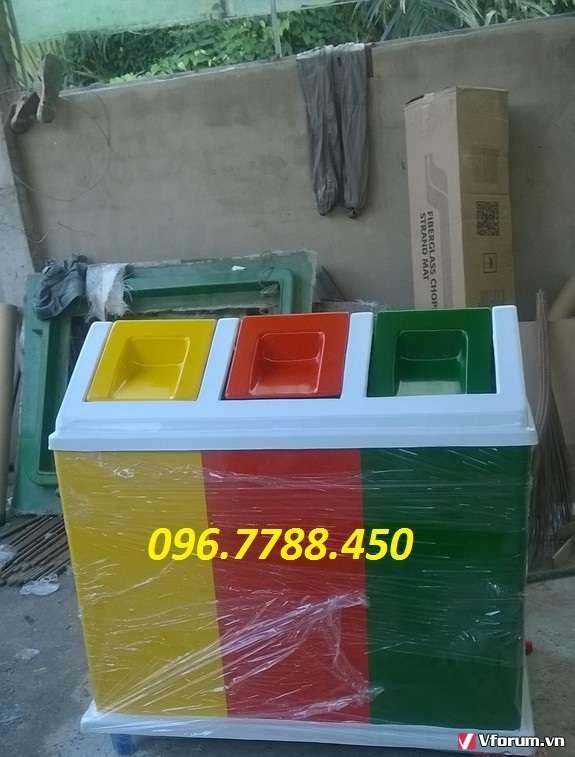 www.123nhanh.com: Thùng rác 3 ngăn, thùng rác phân loại rác thải0967788450