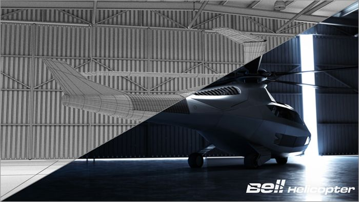 Bell FCX-001 Wireframe 01