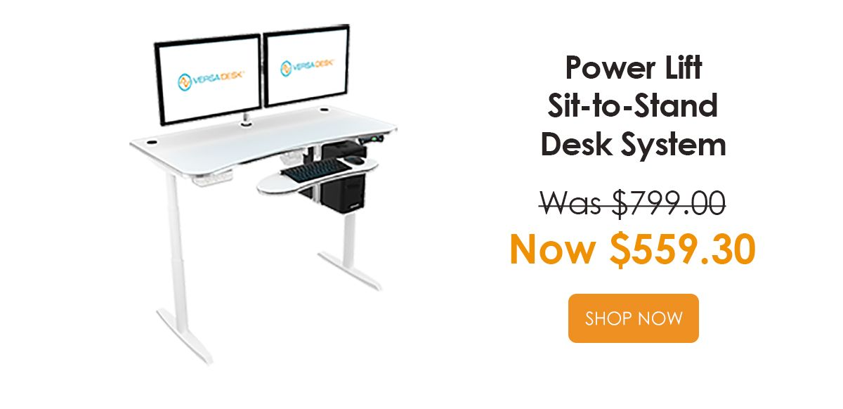 Power Life Sit-to-Stand Desk System Was $799 - Now $559.30
