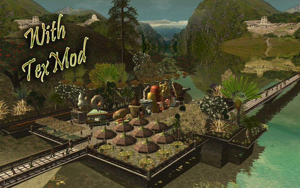 TexMod Intro Page - Image of Park With TexMod