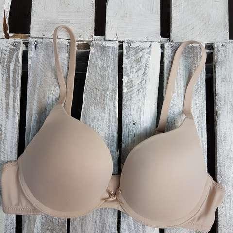 New Ex M/&S Padded Push up bra size 32DD Black PUSH UP PLUNGE T-SHIRT BRA