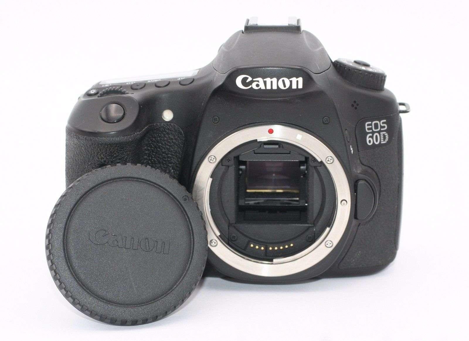canon eos 60d 18 0mp digital slr camera black body only shutter count 3141 ebay. Black Bedroom Furniture Sets. Home Design Ideas