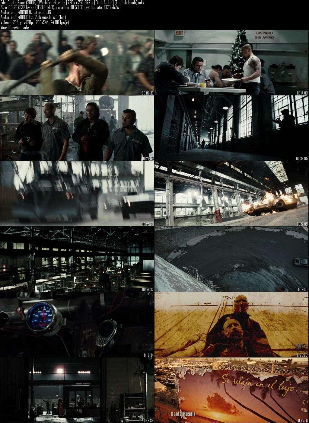 Screen Shots Death Race (2008) 720p Dual Audio Hindi BluRay Download