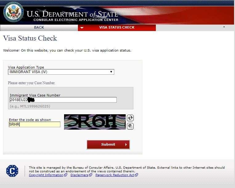 Burada gerekli bilgileri doldurup submit edince, size son durumu gösteren bir ekran açılacak.