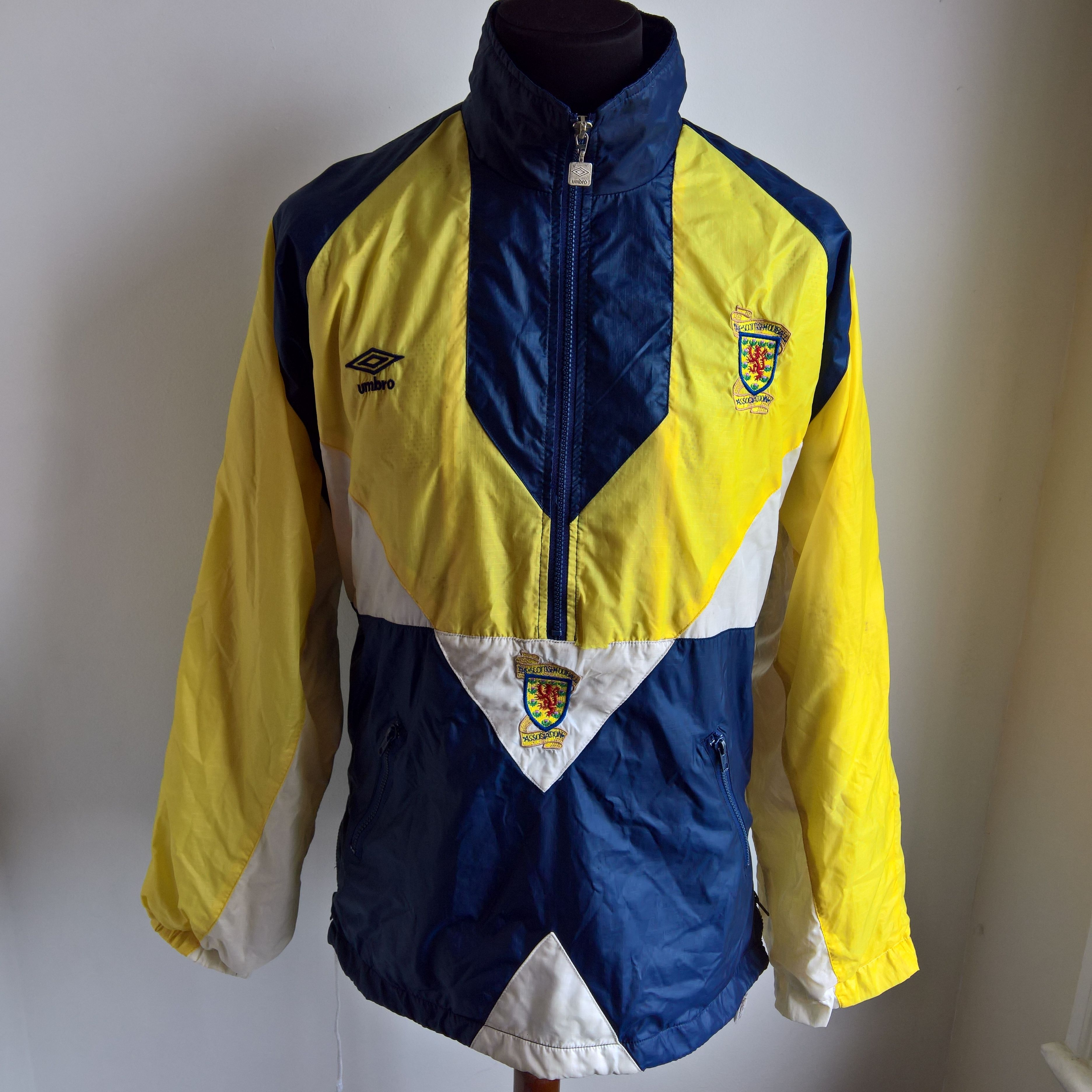 SCOTLAND 1990 JACKET FOOTBALL SHIRT TRAINING SHELL UMBRO JERSEY SIZE ADULT L