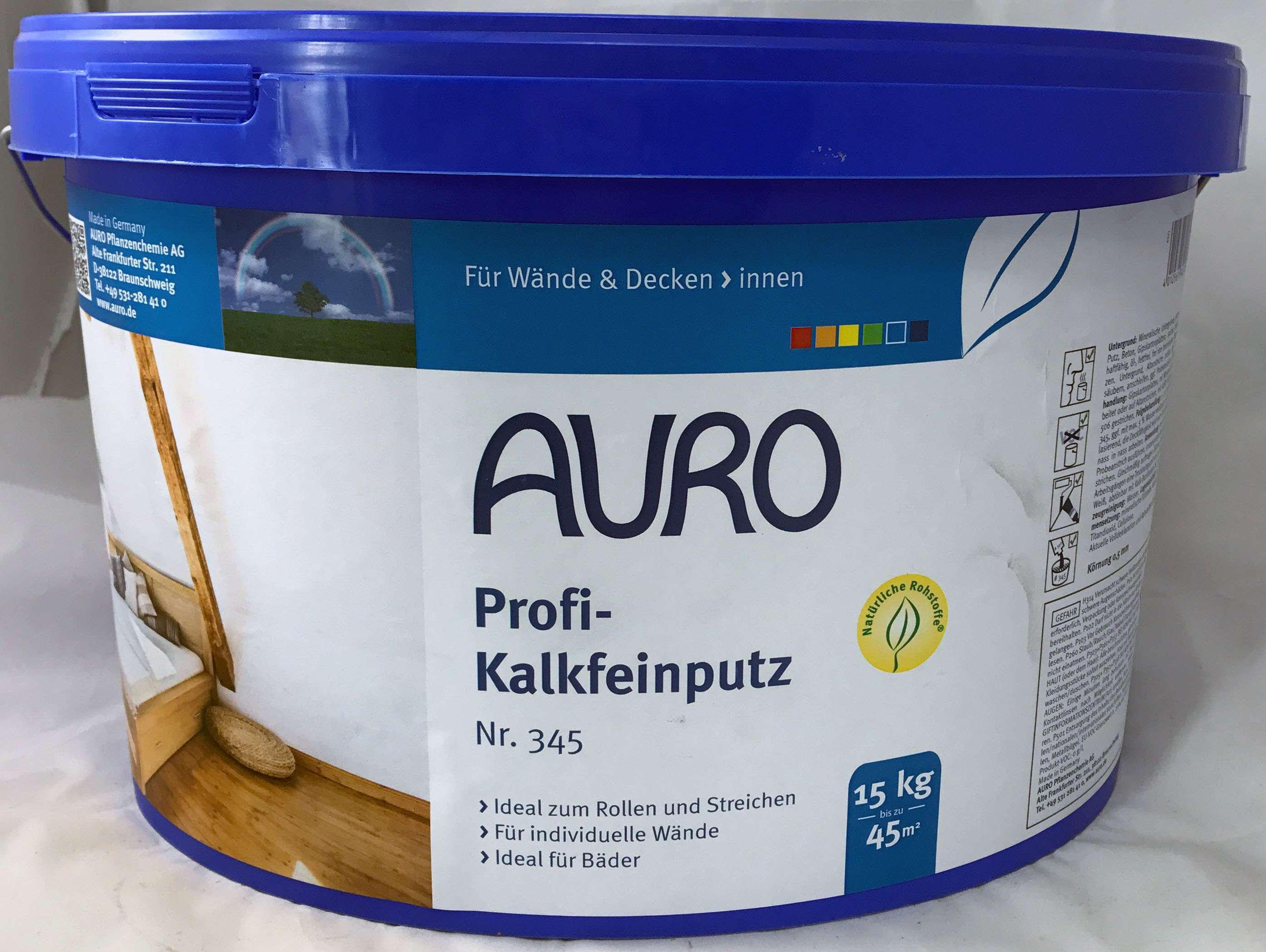 5,66 eur / kg) auro profi - kalkfeinputz nr. 345 - 15 kg innen