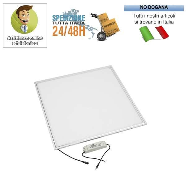 2X Pannello led 60x60 48W quadrato luce fredda lampada plafoniera cornice bianca