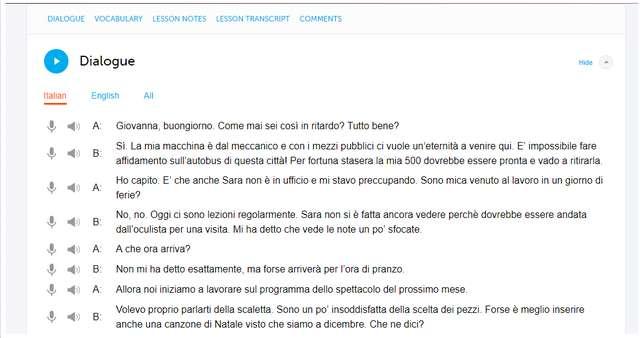 ItalianPod101 dialogue