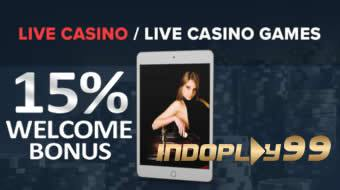 WELCOME BONUS LIVE CASINO 15%