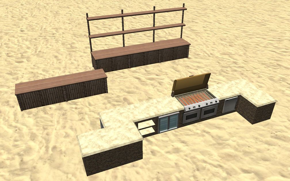 Showcase! Winter 2017 - Mr. Sion's Tiki Bar - Image 04: All Units Fitting Together Seamlessly