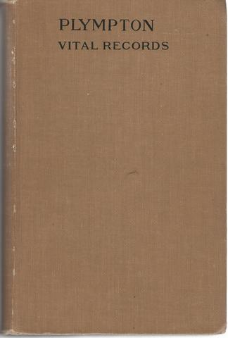 Vital Records of PLYMPTON Massachusetts to the year 1850