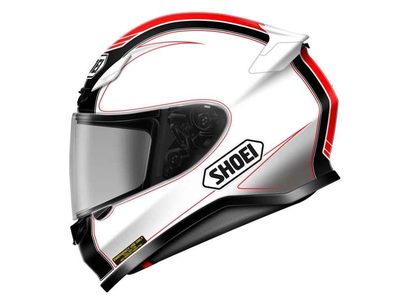 Shoei Nxr Full Face Motorcycle Helmet Flagger Tc 6 White
