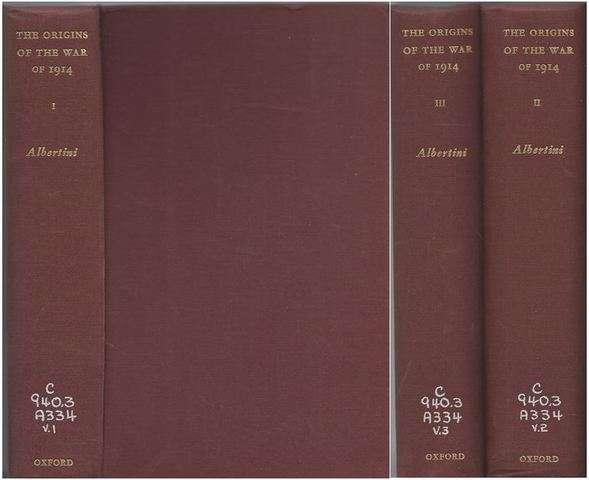 The Origins of The War 1914 3 Volume Set Ex-Library, Luigi Albertini