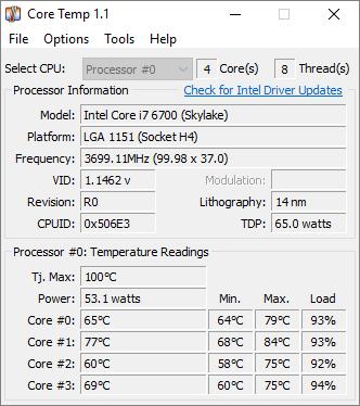 i7 6700 hovering around 80 degrees Celsius | Tom's Hardware Forum
