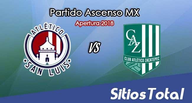 Ver Atlético San Luis vs Atlético Zacatepec en Vivo – Ascenso MX en su Torneo de Apertura 2018
