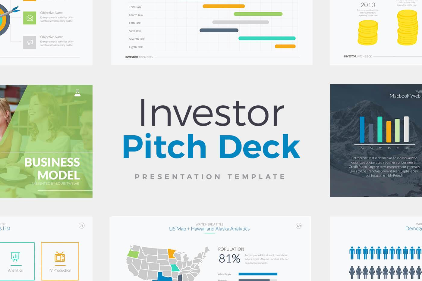 Horizon Business Pitch Deck PowerPoint Template by LouisTwelve-Design