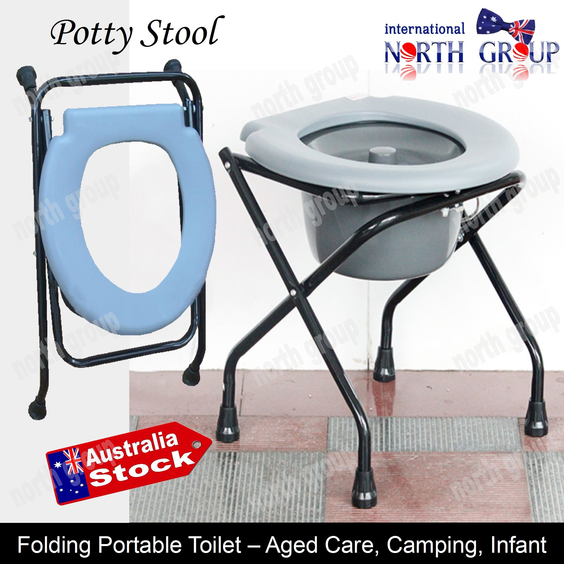FOLDING BEDSIDE COMMODE POTTY CHAIR PORTABLE MOBILE TOILET ...