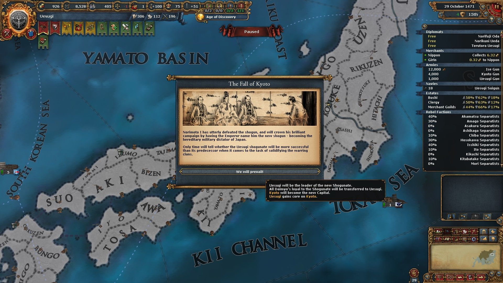 Way of the Samurai - After Action Report on Uesugi | Paradox