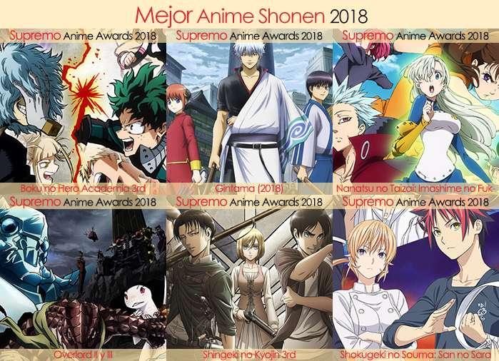 Final X Categorias Nominados a Mejor Anime Shonen 2018