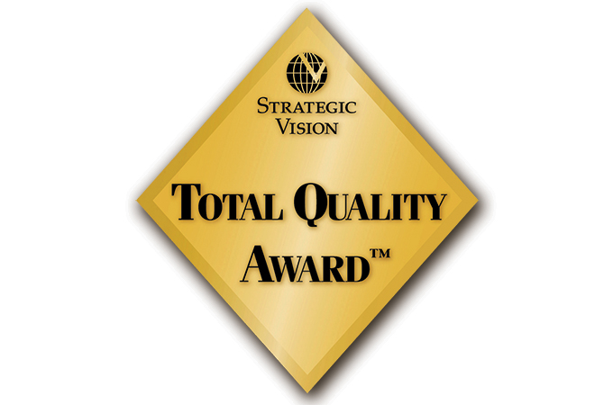 Strategic Vision Total Quality Award Land Rover Range Rover Evoque
