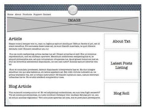 Web page diagram