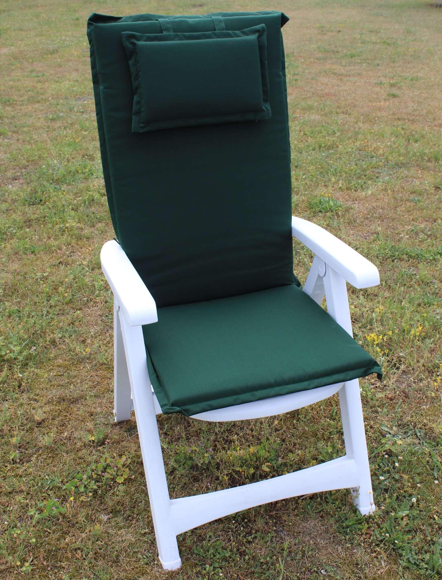 auflage auflagen sitzauflagen f r hochlehner st hle gartenst hle brema gr n neu ebay. Black Bedroom Furniture Sets. Home Design Ideas