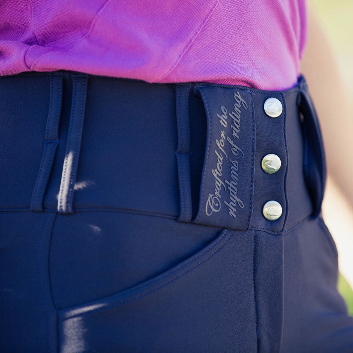 Horze-Desiree-Women-039-s-Knee-Patch-Riding-Breeches-with-High-Waist-and-Bi-Stretch thumbnail 22