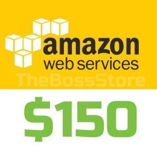SELLING] AWS Amazon Web Services $150 Voucher Credit Code