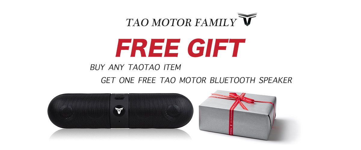 Free Gift on all TaoTao products