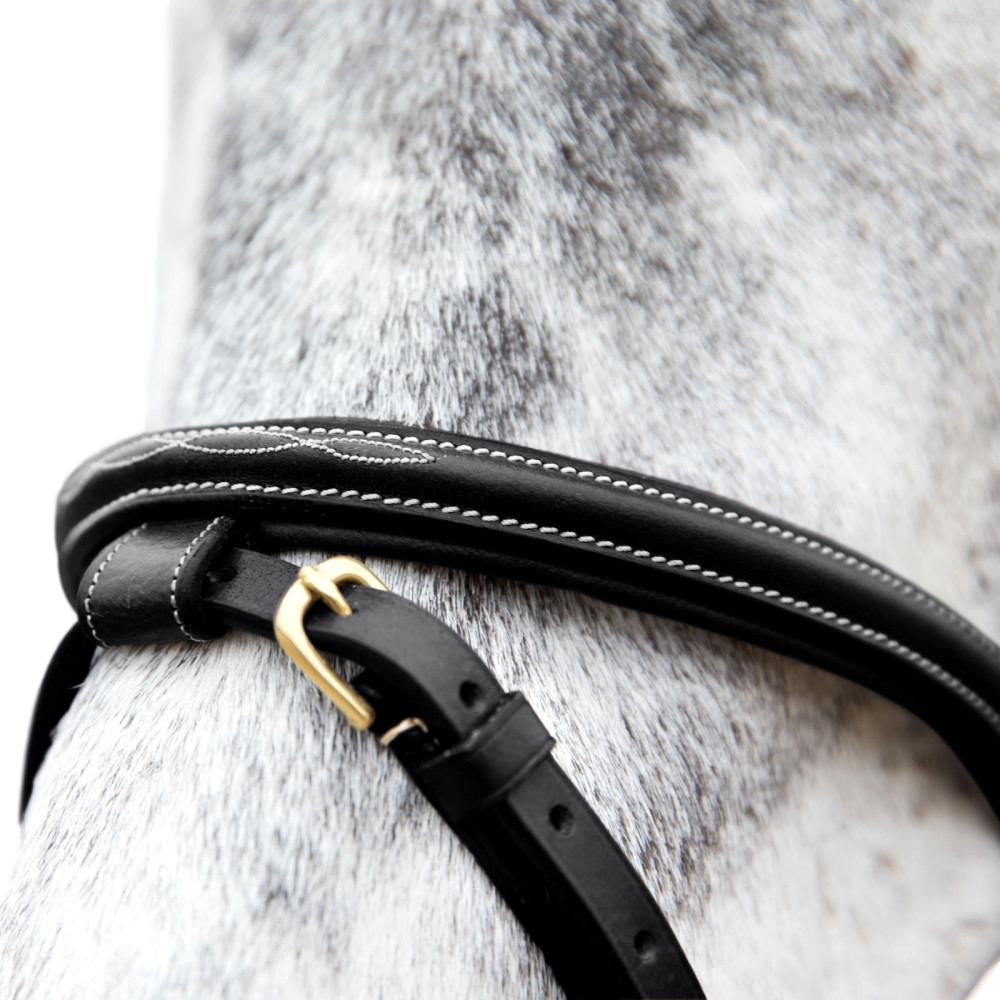 Horze-Constance-Bridle-Fancy-Stitching-with-Combined-Noseband-and-Web-Reins miniature 11
