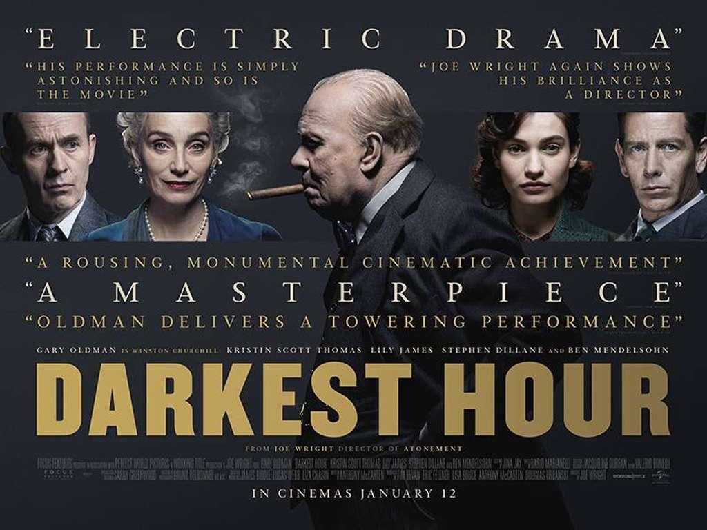 Η Πιο Σκοτεινή Ώρα (Darkest Hour) Quad Poster