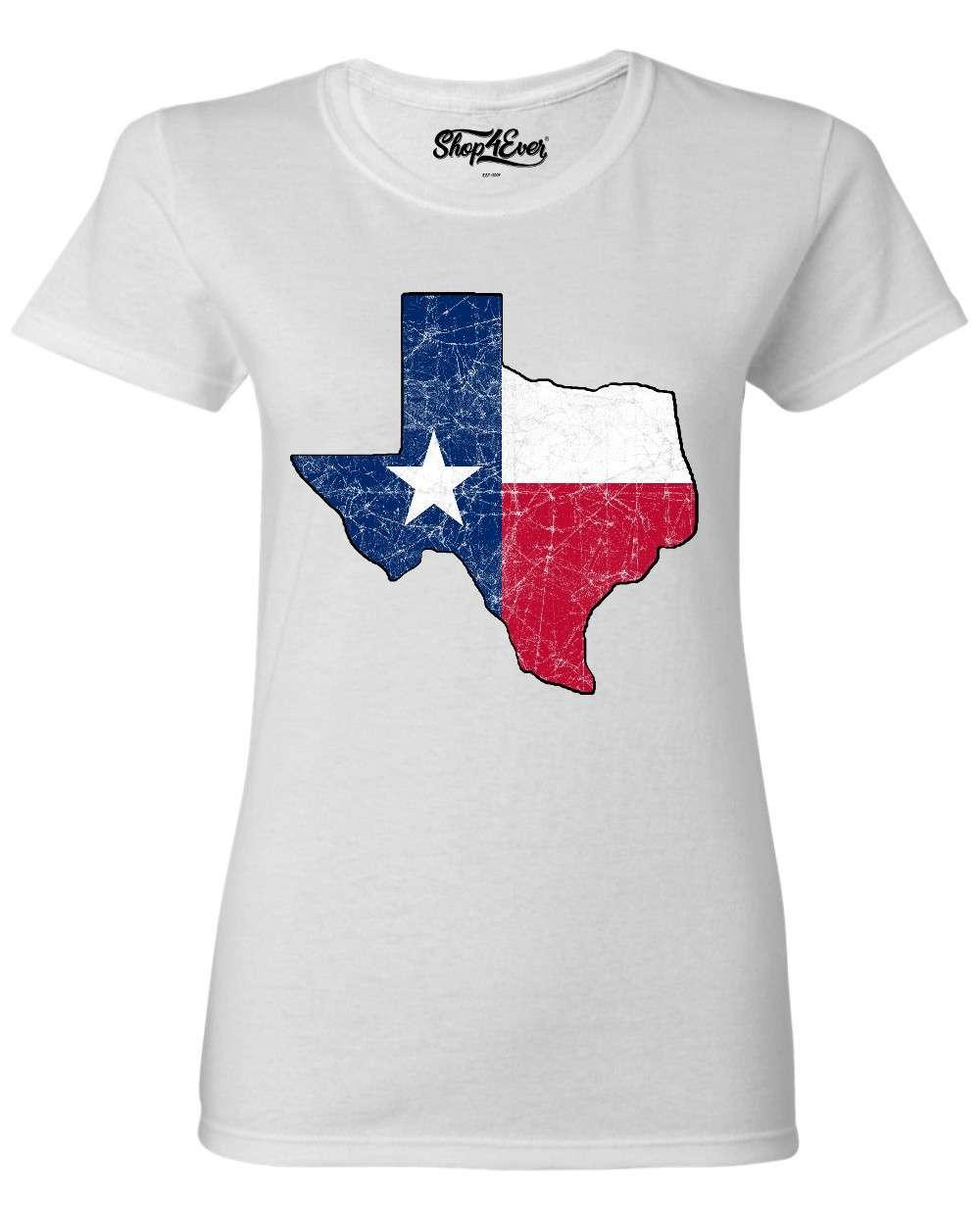 Distressed-Texas-Map-Women-039-s-T-Shirt-Country-Southern-Texan-Souvenir-Shirts thumbnail 20