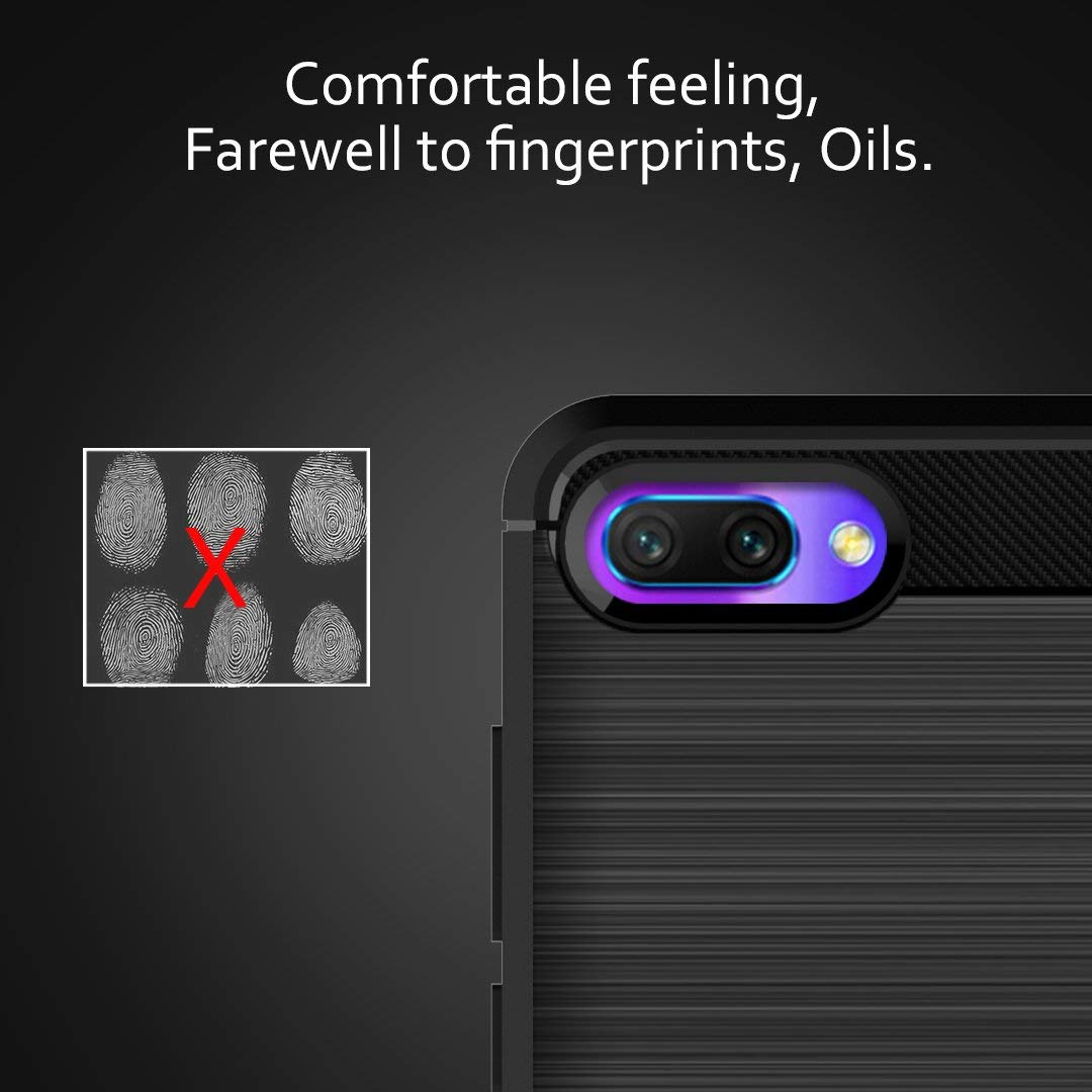 Coque-Etui-Housse-Silicone-brossee-Fibre-de-carbone-Noir-Protection-Huawei miniature 19