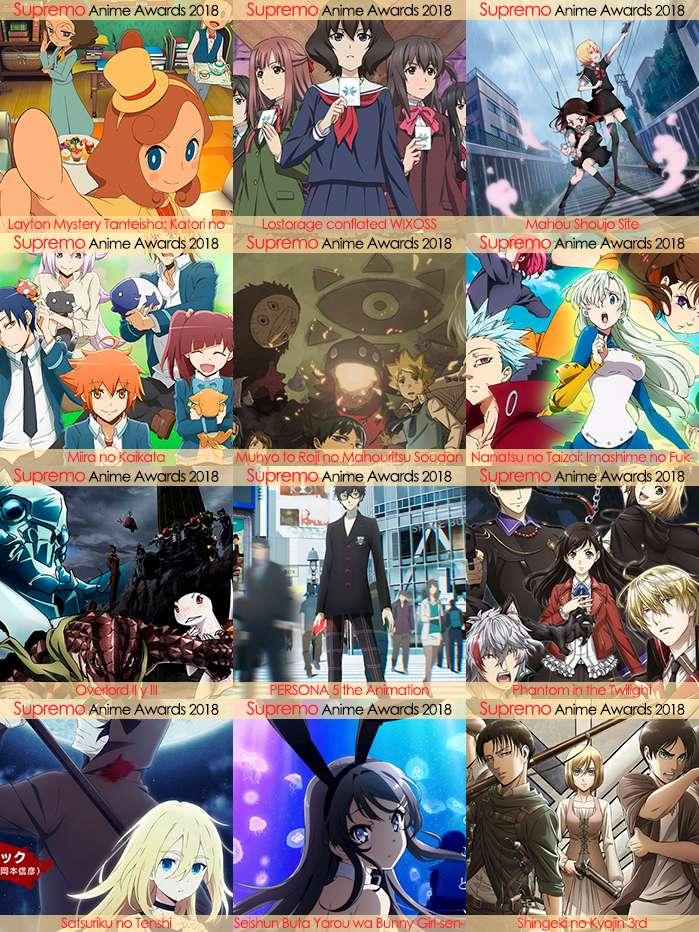 Eliminatorias Nominados a Mejor Anime de Misterio y Supernatural 2018