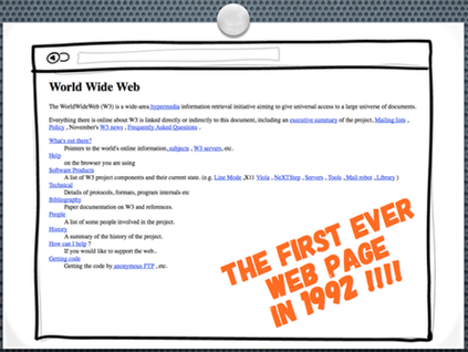 First ever web page